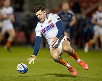 19th December 2020; AJ Bell Stadium, Salford, Lancashire, England; European Champions Cup Rugby, Sale Sharks versus Edinburgh; Sam James of Sale Sharks chases a lose ball
