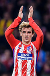 Antoine Griezmann of Atletico de Madrid celebrates after winning  the UEFA Europa League quarter final leg one match between Atletico Madrid and Sporting CP at Wanda Metropolitano on April 5, 2018 in Madrid, Spain. Photo by Diego Souto / Power Sport Images