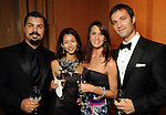 From left: Damian and Naomi Schwiethale with Tyann Clement and Nicholas Leschke at the Dancing with the Houston Stars event benefitting the Houston Ballet at the home of John and Becca Thrash  Friday Sept. 24, 2010. (Dave Rossman/For the Chronicle)