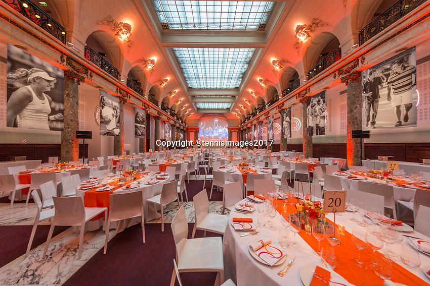 Paris, France, 5 June, 2017, Tennis, French Open, Roland Garros,  ITF Champions Dinner, <br /> Photo: Henk Koster/tennisimages.com