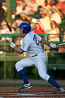 April 9th 2010: Kyler Burke of the Daytona Cubs hits in the game against the Brevard County Manatees at Jackie Robinson Ballpark in Daytona Beach, FL (Photo By Scott Jontes/Four Seam Images)