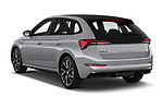 Car pictures of rear three quarter view of 2020 Skoda Scala Monte-Carlo 5 Door Hatchback Angular Rear