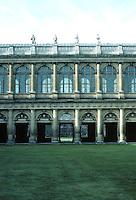 Sir Christopher Wren: Wren Library, Trinity College, Cambridge. Elevation. Photo '82.