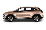 Car Driver side profile view of a 2019 Hyundai Nexo Limited 5 Door SUV Side View