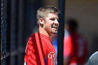 Philadelphia Phillies pitcher Adam Morgan during a minor league Spring Training game against the New York Yankees at Carpenter Complex on March 21, 2013 in Clearwater, Florida.  (Mike Janes/Four Seam Images)