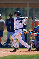 Detroit Tigers Clark Brinkman (27) during a Minor League Spring Training game against the Toronto Blue Jays on March 22, 2019 at the TigerTown Complex in Lakeland, Florida.  (Mike Janes/Four Seam Images)