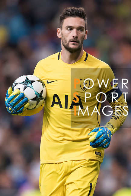 Goalkeeper Hugo Lloris of Tottenham Hotspur FC in action during the UEFA Champions League 2017-18 match between Real Madrid and Tottenham Hotspur FC at Estadio Santiago Bernabeu on 17 October 2017 in Madrid, Spain. Photo by Diego Gonzalez / Power Sport Images