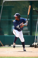 GCL Braves left fielder Sander Boeldak (23) at bat during a game against the GCL Blue Jays on August 5, 2016 at ESPN Wide World of Sports in Orlando, Florida.  GCL Braves defeated the GCL Blue Jays 9-0.  (Mike Janes/Four Seam Images)
