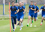 St Johnstone Training….29.06.19   McDiarmid Park, Perth<br />Murray Davidson and Steven Anderson lead a training run<br />Picture by Graeme Hart.<br />Copyright Perthshire Picture Agency<br />Tel: 01738 623350  Mobile: 07990 594431