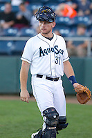 Adam Martin #31 of the Everett AquaSox during a game against the Tri-City Dust Devils at Everett Memorial Stadium in Everett, Washington on July 28, 2014. Tri-City defeated Everett 6-5 in 11 innings.  (Ronnie Allen/Four Seam Images)
