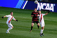 Chester, PA - Sunday December 10, 2017: Foster Langsdorf, Rece Buckmaster. Stanford University defeated Indiana University 1-0 in double overtime during the NCAA 2017 Men's College Cup championship match at Talen Energy Stadium.