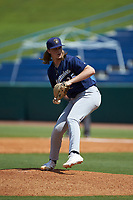 Brodie Chesnutt (35) of Houston County HS in Warner Robins, GA of the Milwaukee Brewers scout team during the East Coast Pro Showcase at the Hoover Met Complex on August 3, 2020 in Hoover, AL. (Brian Westerholt/Four Seam Images)