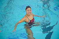 Wendy Lu of the 2010 Stanford Synchronized Swimming team.