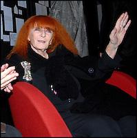 SONIA RYKIEL<br /> Lors de la soiree des 40 ans de creation Sonia Rykiel