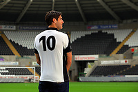 Pictured:  Danny Graham<br /> Re: Swansea City FC squad photo-shoot at the Liberty Stadium, south Wales.
