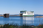 The Keystone Ferry runs between Whidbey Island, WA and Port Townshend on the Olympic Peninsula, crossing Admiralty Inslet.
