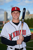 Indianapolis Indians right fielder Austin Meadows (13) poses for a photo before a game against the Toledo Mud Hens on May 2, 2017 at Victory Field in Indianapolis, Indiana.  Indianapolis defeated Toledo 9-2.  (Mike Janes/Four Seam Images)