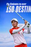 Tiffany Chan of Hong Kong tees off during the first round of the EFG Hong Kong Ladies Open at the Hong Kong Golf Club Old Course on May 11, 2018 in Hong Kong. Photo by Marcio Rodrigo Machado / Power Sport Images