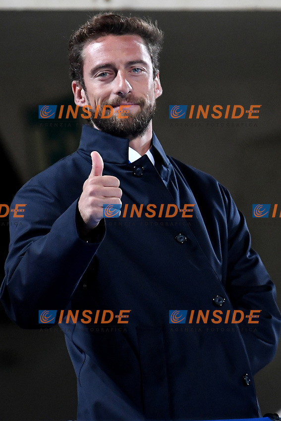 Former italian player Claudio Marchisio gestures prior to the the Uefa friendly football match between Italy and Moldova at Artemio Franchi Stadium in Firenze (Italy), October, 7th 2020. Photo Andrea Staccioli/ Insidefoto