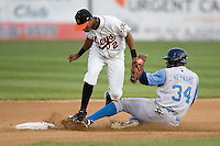 Heyward, Jason slide 1621.jpg. Carolina League Myrtle Beach Pelicans at the Frederick Keys at Harry Grove Stadium on May 13th 2009 in Frederick, Maryland. Photo by Andrew Woolley.