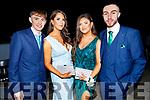 Simon Moynihan, Michaela Sugrue, Seniz Kuccuk and Tony Duggan attending the Mercy Mounthawk Debs in the Ballyroe Heights Hotel on Friday.