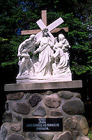Caraquet, NB, New Brunswick, Canada - the Eighth Station of the Cross at Sainte-Anne-du-Bocage, a Catholic Sanctuary