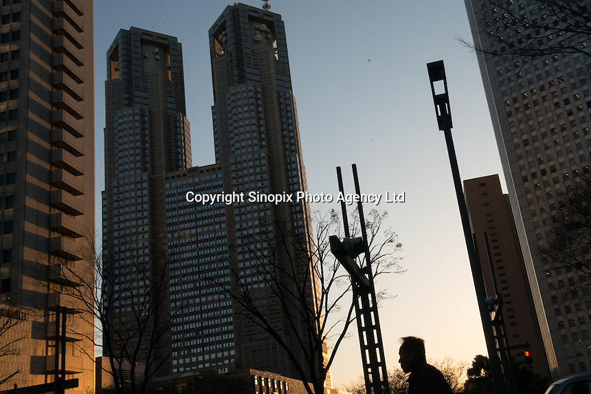 Businessmen in the Shinjiku area of Tokyo, Japan.<br /> March-2015