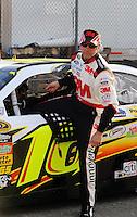 Feb 20, 2009; Fontana, CA, USA; NASCAR Sprint Cup Series driver Greg Biffle during qualifying for the Auto Club 500 at Auto Club Speedway. Mandatory Credit: Mark J. Rebilas-