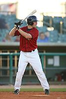 April 19 2009: Chris Minaker of the Lancaster JetHawks bats against the High Desert Mavericks at Clear Channel Stadium in Lancaster,CA.  Photo by Larry Goren/Four Seam Images