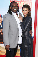 HOLLYWOOD, LOS ANGELES, CA, USA - MAY 21: Kazembe Ajamu, Zendaya Coleman at the Los Angeles Premiere Of Warner Bros. Pictures' 'Blended' held at the TCL Chinese Theatre on May 21, 2014 in Hollywood, Los Angeles, California, United States. (Photo by Xavier Collin/Celebrity Monitor)