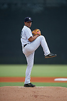GCL Yankees East pitcher Deivi Diaz (19) during a Gulf Coast League game against the GCL Phillies West on July 26, 2019 at the New York Yankees Minor League Complex in Tampa, Florida.  (Mike Janes/Four Seam Images)
