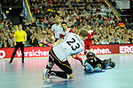 Leipzig, Germany, February 08: Fabian Pehlke #23 of Germany scores during the men bronze medal match between Germany (white) and Iran (red) on February 8, 2015 at the FIH Indoor Hockey World Cup at Arena Leipzig in Leipzig, Germany. Final score 13-2. (Photo by Dirk Markgraf / www.265-images.com) *** Local caption ***