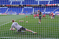 Harrison, NJ - Wednesday Aug. 03, 2016: Ryan Meara, Preston Burpo during a CONCACAF Champions League match between the New York Red Bulls and Antigua at Red Bull Arena.