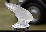 Lalique Crystal Mascot, 1934 Packard Dietrich Convertible Sedan, Pebble Beach Concours d'Elegance