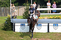 4th September 2021; Bicton Park, East Budleigh Salterton, Budleigh Salterton, United Kingdom: Bicton CCI 5* Equestrian Event; Angus Smales riding ESI Pheonix at The Clinton Devon Estates Cliffhanger 14B,