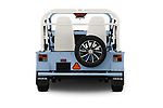 Straight rear view of a 2019 Moke America eMoke Base 5 Door SUV stock images