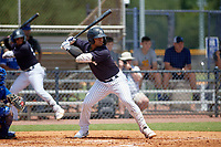 FCL Yankees Dionys Vallejo (41) bats during a game against the FCL Blue Jays on June 29, 2021 at the Yankees Minor League Complex in Tampa, Florida.  (Mike Janes/Four Seam Images)