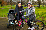 Enjoying a stroll in Tralee town park on Saturday, l to r: Tadgh O'Shea, Amy Thompson and Grace O'Shea