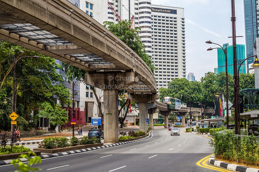 MRT (Mass Rapid Transit) Serving Central Kuala Lumpur, Malaysia.