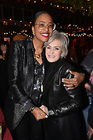 """HOLLYWOOD - FEBRUARY 20: Aisha Tyler and  Sharon Osbourne attend Ozzy Osbourne global tattoo and album listening party to celebrate his new album """"Ordinary Man"""" on February 20, 2020 in Hollywood, California. (Photo by Lionel Hahn/Epic Records/PictureGroup)"""