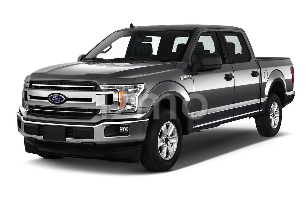 2020 Ford F-150 XLT 4 Door Pick Up angular front stock photos of front three quarter view