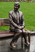 "Mr Bean statue unveiled at the launch of ""Scenes in the Square"" statue trail in Leicester Square, London.<br /> <br /> ©Ash Knotek  D3558 27/02/2020"