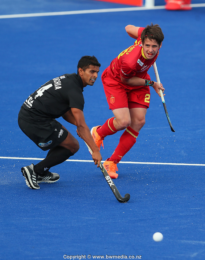 Jared Panchia  during the Pro League Hockey match between the Blacksticks men and the Spain, Nga Punawai, Christchurch, New Zealand, Sunday 16 February 2020. Photo: Simon Watts/www.bwmedia.co.nz