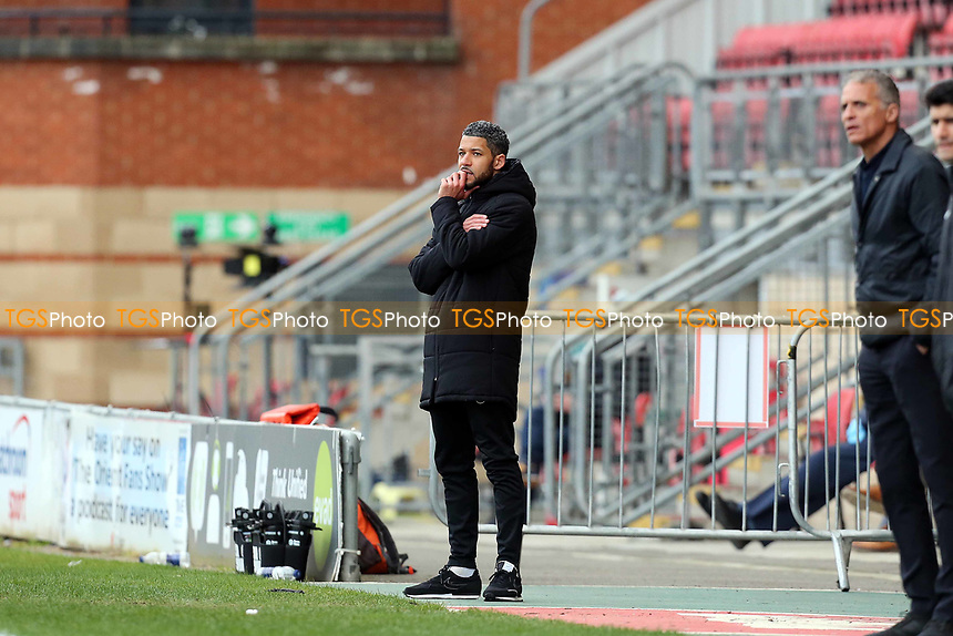 O's manager Jobi McAnuff during Leyton Orient vs Oldham Athletic, Sky Bet EFL League 2 Football at The Breyer Group Stadium on 27th March 2021
