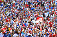 Santa Clara, CA - Friday June 03, 2016: United States fans during a Copa America Centenario Group A match between United States (USA) and Colombia (COL) at Levi's Stadium.