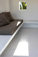 cycladic white built-in sofa