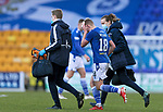 St Johnstone v St Mirren…16.01.21   McDiarmid Park     SPFL<br />Ali McCann leaves the pitch for treatment after getting a cut to the head<br />Picture by Graeme Hart.<br />Copyright Perthshire Picture Agency<br />Tel: 01738 623350  Mobile: 07990 594431