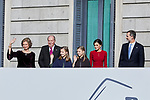 Former King Juan Carlos I of Spain, Former Queen Sofia of Spain, King Felipe VI of Spain, Queen Letizia of Spain, Princess Leonor of Spain and Princess Sofia of Spain attends to 40 Anniversary of Spanish Constitution at Congreso de los Diputados in Madrid, Spain. December 06, 2018. (ALTERPHOTOS/A. Perez Meca)