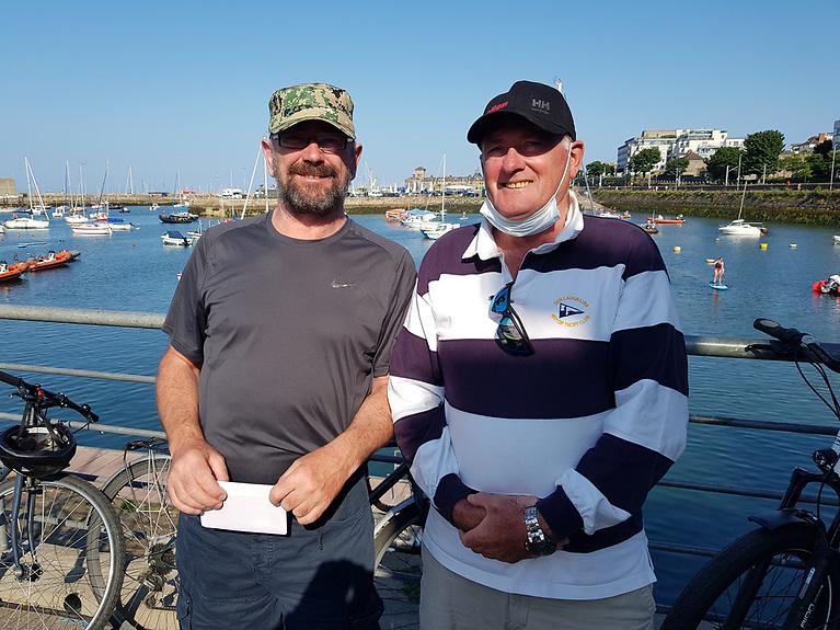 Aidan Caulfield (3rd silver) (left) with DMYC Commodore Dermot Reidy