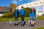 First Years back in school at Colaiste na Sceilge, Cahersiveen on Monday pictured here l-r; Rayna Hunt, Nicole Devlin & Lola O'Neill.